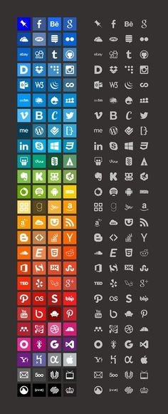 Download 100+ Brands Icons And Color Style Guides - Photoshop Roadmap