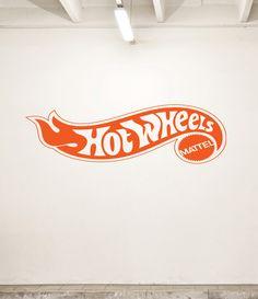 "NEW ""Hot Wheels"" Logo Design Vinyl Wall Decal for Bedroom or Garage Many Colors Large Design. $26.99, via Etsy."