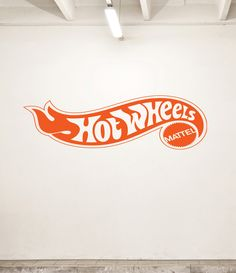 "NEW ""Hot Wheels"" Logo Design Vinyl Wall Decal for Bedroom or Garage Many Colors Large Design. $26.99, via Etsy."