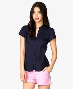 Essential Pleated Bib Top   FOREVER21 - 2048100101
