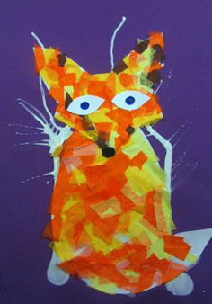 adaptive art activities | adaptive art: Fox in the Snow