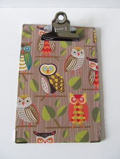 Small Decorative ClipboardOwls Blue and by ConfettiStyleDesigns, $11.00