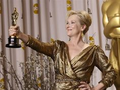 Meryl Streep thanked more often at Oscars than God ---> In Hollywood, three-time Oscar winner Meryl Streep holds a certain godlike status: She's revered by audiences, critics and her peers for her versatility, talent and deftness with an accent. A new study by Slate bears that out, literally: Streep has been thanked more times than God in actors' Oscar speeches over the past 12 years. (February 20)