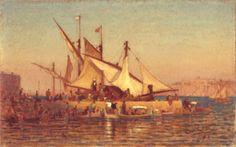 Louis Comfort Tiffany, The Harbor at Malta, 1874