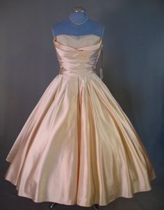 1950's Fred Perlberg satin dress