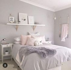 Trendy bedroom ideas for teen girls grey teal dream rooms 44 Ideas Cute Teen Bedrooms, Teen Bedroom Designs, Trendy Bedroom, Modern Bedroom, Bedroom Girls, Summer Bedroom, Bedroom Vintage, Contemporary Bedroom, Vintage Room