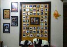 Colourful room decor. Board, pictures, F.R.I.E.N.D.S, Pandas, Frames,  Dream catcher.