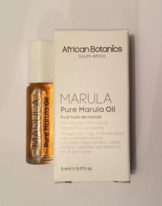 AFRICAN BOTANICS Pure Marula Oil 5ml Organic Beauty Oil BNIB