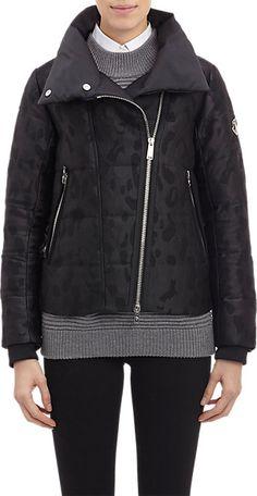 Moncler Animal-Pattern Jacquard Puffer Jacket