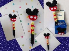 PLUMA DE MICKEY MOUSE ADORNADA CON LIMPIA PIPAS-. PIPE CLEANERS ICKEY MOUSE PEN - YouTube