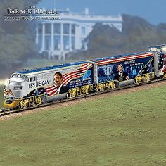 The Barack Obama Express Illuminated Electric Train