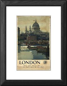 'London', GWR Poster, 1946 Framed Artwork - STEAM Picture Library