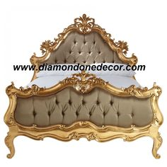 Fabulous Victorian French Reproduction Rococo Hand Carved Baroque Bed