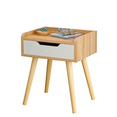 Flashing Nightstand Wood-Based Panel with Drawer Storage, Bedroom Locker Bedside Storage Box Bedside Table (Color : Size : Bedside Storage, Drawer Storage, Bedroom Storage, Solid Wood Cabinets, Wood Nightstand, Small Tables, Storage Spaces, Lockers, Bedside Tables