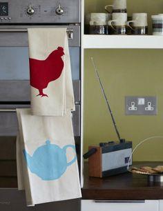 Chook Tea Towel | DIY With A Stencil