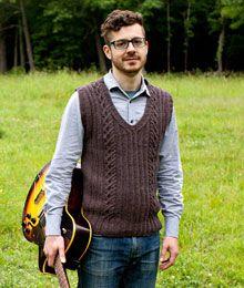 Man's Waistcoat Free Knitting Pattern | Knits For Men | Pinterest ...