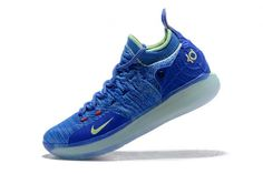 446f2551895 Authentic Kevin Durants Nike KD 11 Paranoid Bright Blue Volt For Sale -  ishoesdesign Basketball Shoes