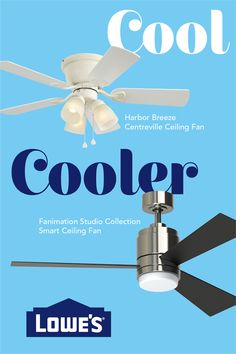 We're all trying to escape the summer heat. Find ceiling fan options to not just keep your home cool, but make your home cool.