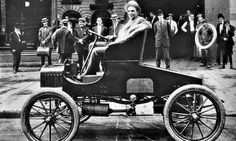Ford cars have moved on since Henry Ford made this first Model T.  It was also regarded as the world's first affordable automobile.