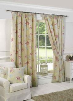 Charlotte Ready Made Lined Curtains Curtains, Traditional House, Traditional Curtains, Lined Curtains, Printed Curtains, Beautiful Curtains, Home Decor, Curtains Uk, Small Cushions