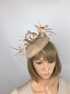 e6f4462f01431 Nude Fascinator Beige Wedding Hatinator Ascot Mother of the Bride Ladies  Day Races Occasion