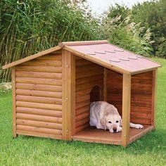 Hütte mit einer Decke für den Hund