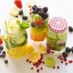 3 Delicious Cleanse & Detox Waters- Cleanse, refresh, and rehydrate your system with these easy-to-make, easy-to-drink cleanse & detox sippers. #detox #cleanse