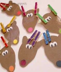 Color Matching Reindeer Clothespin Activity (from School Time Snippets)