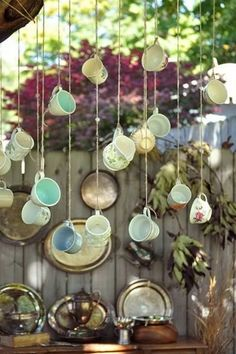Tea cup decor - thots on decorating for high tea party