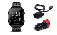 Garmin Approach S20 (Black) Golf GPS Watch with PlayBetter USB Car Charge Adapter | Activity Tracker, Smart Notifications