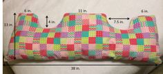 Breast Cancer Pillow measurements for a post-op mastectomy patient. Center part goes on chest with Surgery Gift, Diy Pillows, Pillow Ideas, Breast Cancer Awareness, Breast Cancer Gifts, Couture, Sewing Projects, Easy Projects, Quilting Projects