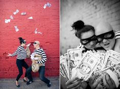 """""""partners in crime"""" engagement pics! so freakin cute!"""