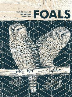 Foals Concert Poster Seattle WA by SubjectMatterStudio on Etsy, $35.00
