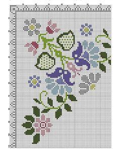 Cross Stitch Heart, Cross Stitch Borders, Cross Stitch Designs, Cross Stitching, Cross Stitch Embroidery, Cross Stitch Patterns, Crochet Blanket Patterns, Baby Blanket Crochet, Palestinian Embroidery