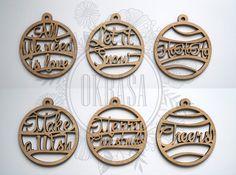 Set of 6 Christmas Ornaments. Christmas Gift. by OkrasaDecor
