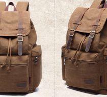 KAUKKO el yapımı kanvas 'backpack' çanta (SB36)