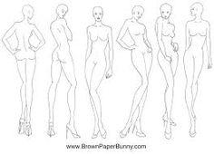 fashion illustration bodies - Buscar con Google   Figurines ...