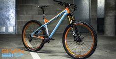 Production Privee Shan917 - Steel super long travel hardtail. in 917 colors with the orange Crank Bros wheels