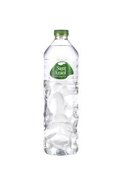 PET bottle for Sant Aniol, inspired by volcanic rocks of the Garrotxa. Bottle design by Martín Azúa Studio. Bottle label by Little Buddha.