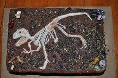 Dinosaur bones birthday cake