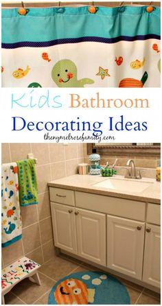 Kids Bathroom Decorating Ideas http://thenymelrosefamily.com/2014/08/kids-bathroom-decorating-ideas.html#_a5y_p=2129670