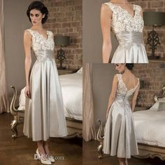 Elegant 1950s Mother Of The Bride Dresses Lace Silver Taffeta Pleats Tea Length Groom'S Mother Evening Gowns 2016 Plus Size Custom Made Mother Of The Bride Dress Shops Mother Of The Bride Dresses London From Everbridal1989, $104.72| Dhgate.Com