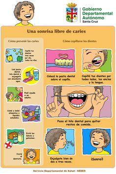 aseo oral niños at DuckDuckGo Dental Receptionist, Dental Floss, Deep Cleaning, Dentistry, Health, Ideas Preescolar, Amsterdam, Spanish, Oral Hygiene