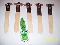 """Continuing with our craft stick puppets, we made moneys for the song,"""" 5 Little Monkeys Sitting in a Tree. Literacy Activities, Preschool Activities, Preschool Projects, Preschool Jungle, Art Projects, Alphabet Activities, Five Little Monkeys, Sitting In A Tree, Preschool Songs"""