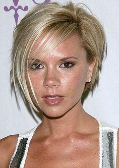Victoria Beckham asymmetrical bob haircuts