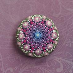 Jewel Drop Mandala Painted Stone painted by par ElspethMcLean