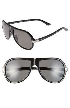 fa4ec2f335 Salvatore Ferragamo 54mm Polarized Foldable Aviator Sunglasses available at   Nordstrom Fashion Styles