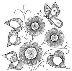 Lecciones y esquemas para crear patrones simples en la técnica Izon - Her Crochet häkeln häkeln häkeln Embroidery Cards, Learn Embroidery, Embroidery Stitches, Embroidery Patterns, Hand Embroidery, String Art Templates, String Art Patterns, Card Patterns, Stitch Patterns