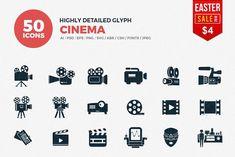JI-Glyph Cinema Icons Set by Jumbo Icons on @creativemarket