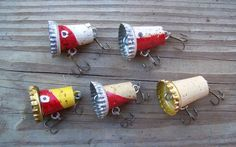 5 Piece Recycled Cork Bass Fishing Lure Set by GoneFishingLures